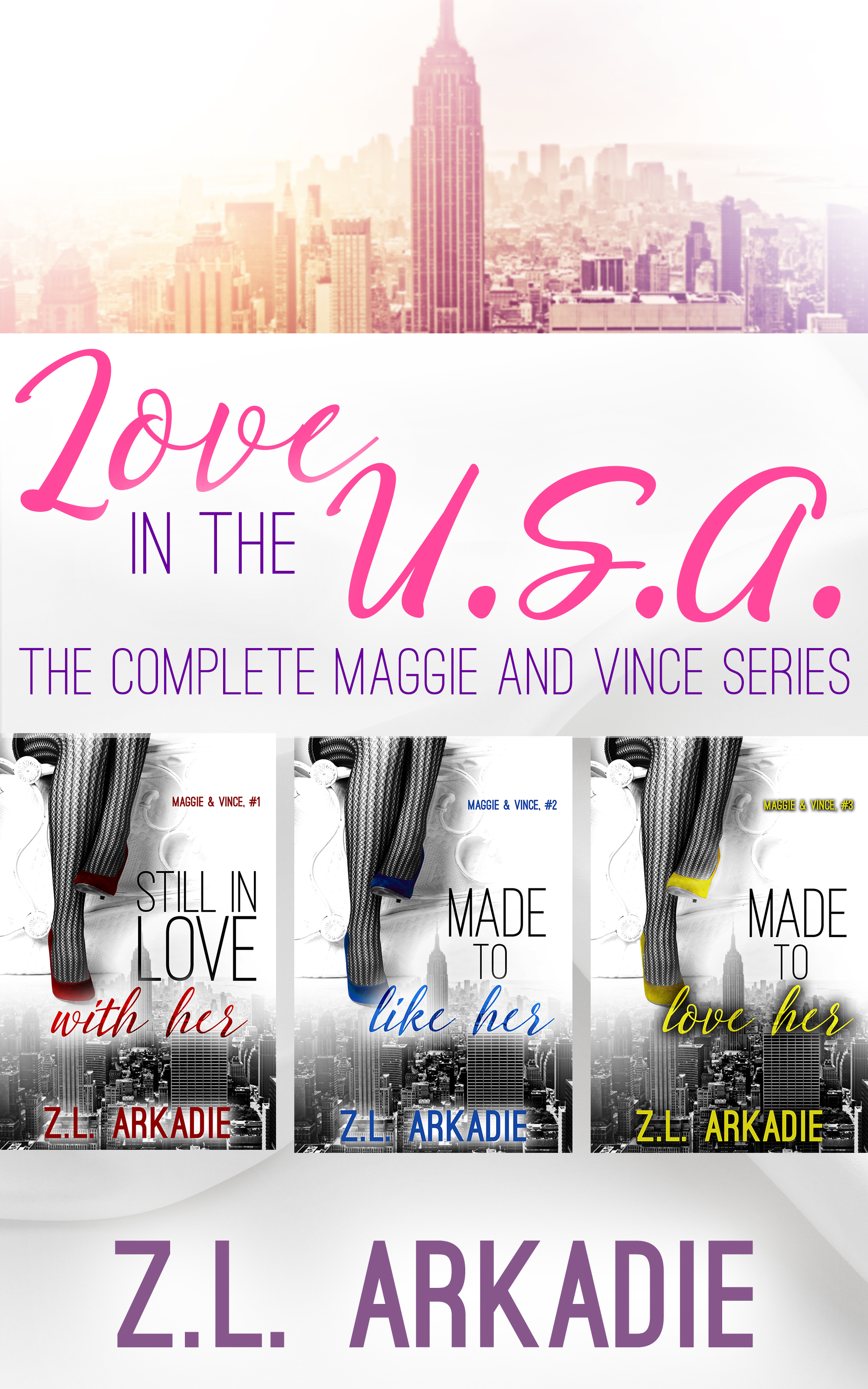 Love in the USA Box Set Maggie and Vince by ZL Arkadie